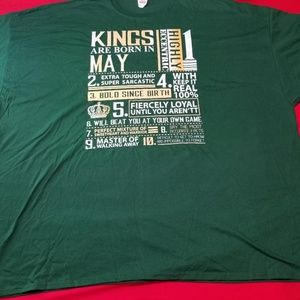 Other - Kings Born in May 6XL TShirt
